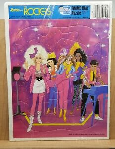 Vintage Barbie And The Rockers Golden Mattel 1986 Frame Tray Puzzle Brand new