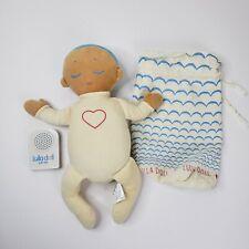 Roro Lulla Baby Doll Sleep Companion Lovey Heartbeat Breathing Sound Blue Hair