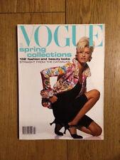 Vogue UK February 1991 Linda Evangelista Patrick Demarchelier Bischof Coen