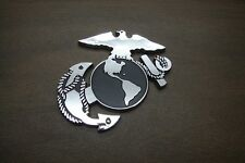 USMC 3D ABS CHROME FINISH DECAL EMBLEM MARINE CORPS SEMPER FI MARINES
