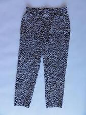 0d3685628 Theory Jesha P. Choctaw Silk Cropped Pants Black/white Size P