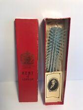 Vintage KENT of LONDON Ladies Hair Brush - Blue Handle With White Bristles LP9