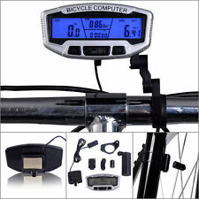 Digital Wireless Cycling Bike Bicycle Computer Odometer Speedometer +Backlight