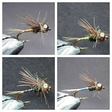 1 DOZEN TUNGSTEN HEAD NYMPHS FOR FLY FISHING (4 MODELS)-TUNG-158