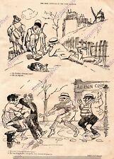 CLOCHARD POINTURE CHAUSSURE VOLEUR BOURGEOIS MIRANDE HUMOUR 1919 PRINT