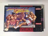 Super Nintendo SNES Capcom Street Fighter II 2 Turbo 1991 With Box No Booklet