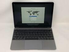MacBook 12 Space Gray Early 2016 MLHA2LL/A 1.1GHz m3 8GB 256GB Fair Cond. - READ