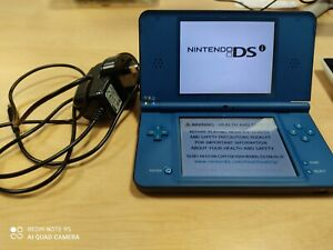 Nintendo blue DSi XL with unofficial charger
