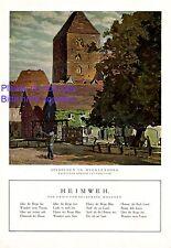 Stadt in Mecklenburg XL Kunstdruck 1924 Hans Licht * Berlin & Erich Beckerath +
