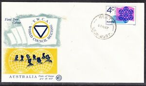 """Australia """"WCS"""" 1967 YWCA Green/gold First Day Cover  Henty NSW Unn"""