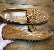 Vintage Ladies Cole-Haan Handsewn Woven Leather Drivers Moc, Size 8Aa