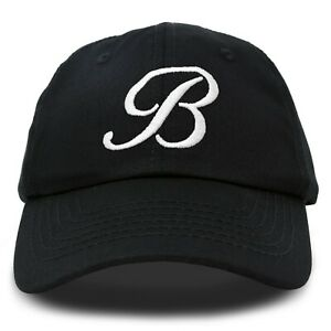 DALIX Initial Hat Letter B Womens Baseball Cap Monogram Cursive Embroidered