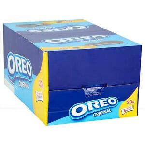 Nabisco Oreo Classic Sandwich Cream Biscuits Snack 6 Pcs Each - Pack of 20 x 66g