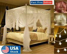 4 Corner Post Bed Canopy Mosquito Priceness Double Net Netting Bedding Curtain