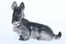 Russian Imperial Lomonosov Porcelain Figurine / Sculpture Scottish Terrier Dog