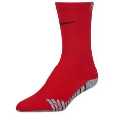 NIKE Grip Vapor Football Crew Socks XL 12-15 Traction Red Grey Black SX5669-657