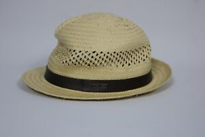 Timberland Men's Beige 100% Straw Structured Hat A1E3C (L/XL)