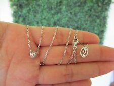 .073 Carat Diamond White Gold Necklace 18k N79W sep