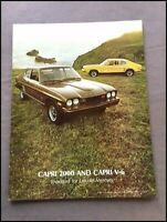 1974 Mercury Ford Capri 12-page Original Car Sales Brochure Catalog
