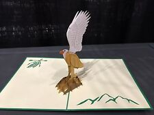 3D Pop Up Card Eagle Kirigami Handmade Birthday/Anniversary/Fathers Day