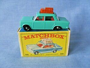 VINTAGE MOKO LESNEY MATCHBOX No.56b FIAT 1500 IN ORIGINAL BOX - 1965