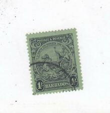BARBADOS # 175a 1sh SEAL OF COLONY CAT VALUE $50