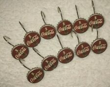 Coca Cola Bottle Cap Shower Curtain Rings / Hooks Eleven Of Them