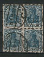 Deutsches Reich Germania 4er MiNr. 144 gestempelt BREMERHAVEN ex 140- 153 ungepr