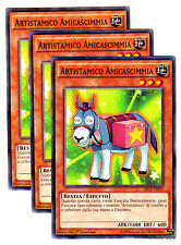 Set 3X ARTISTAMICO AMICASCIMMIA SECE-IT003 Comune in Italiano YUGIOH