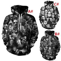 Men/Women Horror Movie Hoodie Cosplay Costume Hooded Jacket Pullover Sweatshirt