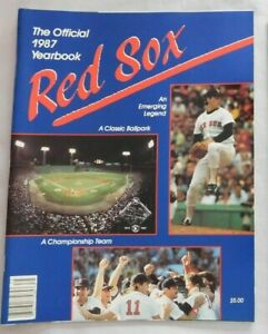 1987 Boston Red Sox Yearbook Roger Clemens