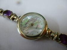 Ladies Gianni Vecci Amethyst Set Sterling Silver Watch