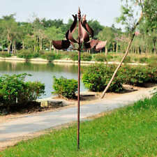 Wind Spinner Metal Tulip Catcher Outdoor Decor Garden Yard Windmill *NEW*