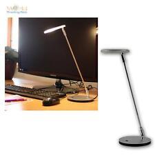 LED-Schreibtischlampe 230V/3W Leseleuchte Leselampe Chrom-matt Tischleuchte Lamp