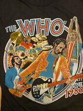 Very Rare Vintage 1980 The Who Keith Moon concert tour shirt NOS ORIGINAL