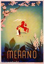 Merano Italy Vintage European Art Travel Advertisement Poster Picture Print