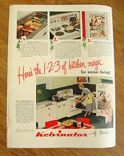 1948 Kelvinator Kitchen Appliance Ad Freezer Refrigerator Electric Range