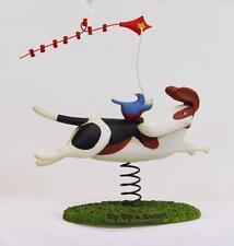 Blossom Bucket Up & Away Kite Flying Dog Basset Hound or Beagle 85706 Retired