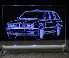 BMW E30  touring AutoGravur auf LED-Leuchtschild 3er