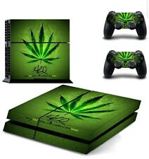 Green Skin Sticker for Playstation 4 PS4 Console + Controllers Body Cover Decal