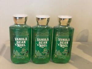 Bath & Body Works Vanilla Bean Noel Body Wash Body Gel - 3X NEW