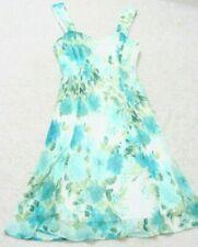 Dress Connected White Green Womans Womens 12 Sleeveless V-Neck Twelve Polyester