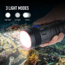 Diving Scuba Torch Led Flashlight Underwater Light Waterproof Video Photography