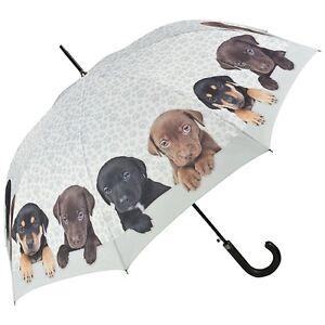 Von Lilienfeld Designer Automatic Walking Umbrella Puppies Rottweiler Labrador