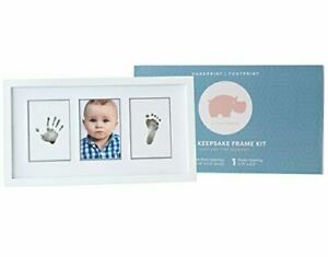 Little Hippo Ink Keepsake Photo Frame Kit Baby Picture Hand Print Foot Print