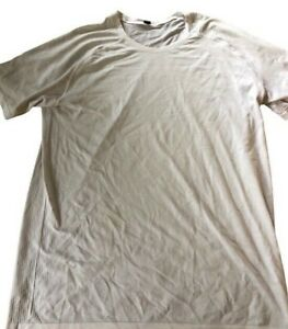 LULULEMON Mens Metal Vent Tech Short Sleeve 2.0 size XL Slate/White Run Gym Yoga