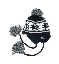 3868decc283f82 NEW ERA MLB New York Yankees Black White Tassel Pom Knit Cap Adult Beanie  Hat