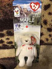 Very Rare International TY Maple the Bear Beanie Baby Errors NIB McDonalds Toy