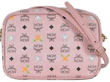 New MCM $595 Zoo Bunny Carrot Pink Small Camera Bag Crossbody Purse