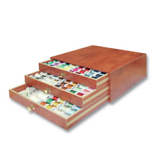 Madeira Quality Teak Treasure Chest - 194 Embroidery Thread Spools - Accessories